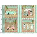 Beach Travel Panel 90cm x 110cm Sommer Strand Caravan...