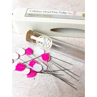 Tulip Cellulose-Head Pins Thin Stecknadeln Pink Hiroshima