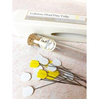 Tulip Cellulose-Head Pins Regular Stecknadeln Gelb Hiroshima
