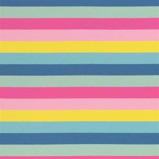 Baumwolljersey Streifen Blockstreifen 3cm Eiscremefarbend Jersey