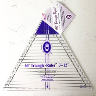 """60° Triangle Ruler 3"""" - 12"""" Marti Michell Extra Large"""