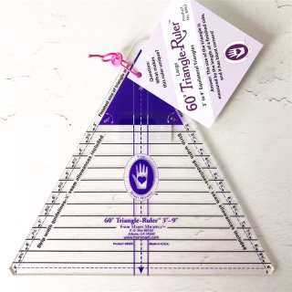"""60° Triangle Ruler 3"""" - 9 """" Marti Michell Large"""