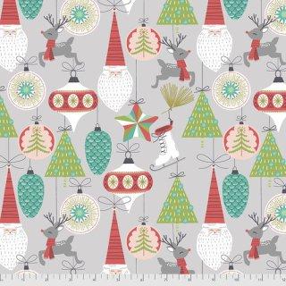 Bells & Baubles Fa La La Weihnachten Christmas Kugeln Grey