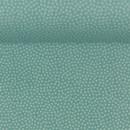 Baumwolldruckstoff Dotty Punkte Mint Helltürkis 2mm