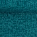 Baumwolldruckstoff Dotty Punkte Petrol 2mm