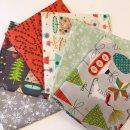 FQ Paket Fa La La Christmas Weihnachten 6 Stoffe