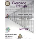 60° Triangle Clearview Lineal  20cm