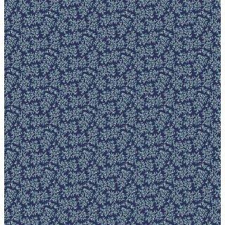 Hello Spring Leaf Navy Blau Blätter