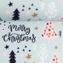 Baumwolldruckstoff Weihnachten Bäume Rosa