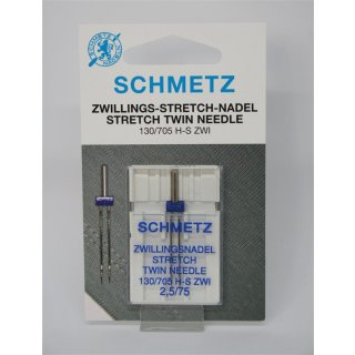 Zwillings-Stretch-Nadel 130/705 H-S ZWI 2,5/75