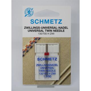 Schmetz Zwillings-Universal-Nadel 130/705 H ZWI 1,6/80