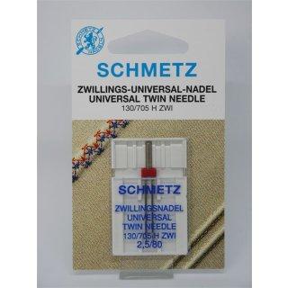 Schmetz Zwillings-Universal-Nadel 130/705 H ZWI 2,5/80