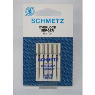 Overlock Nadeln ELx705 80/12 Schmetz