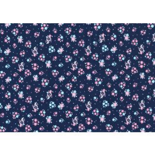 Hello Baby Blumen Blau Floral Navy