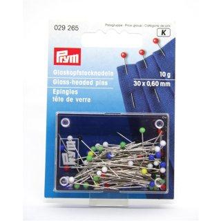 Glaskopfstecknadel Bunt von PRYM  30 x 0,60mm
