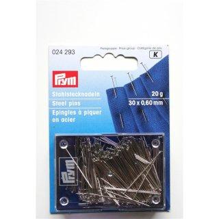 Stahlstecknadeln von PRYM  30 x 0,60mm