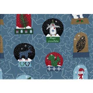 Snow House Schneekugeln Blau Weihnachten