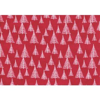 Weihnachten Silent Christmas Bäume Rot
