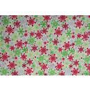 Weihnachten Sterne Flakes Basic Rot Grün
